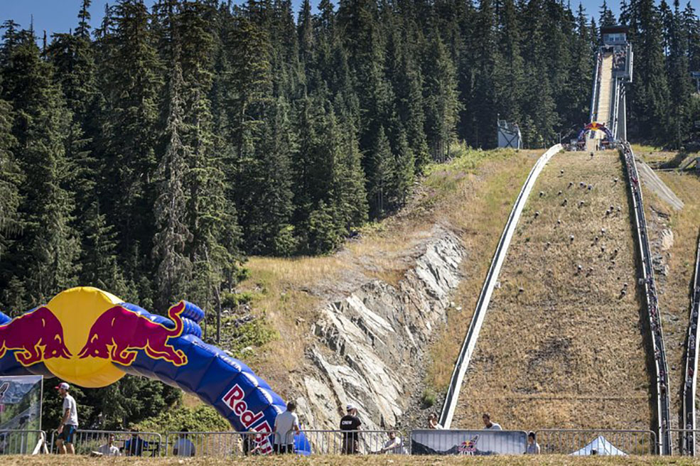 The ski jump race track at Red Bull 400 in Whistler (Scott Serfas/Red Bull Content Pool)