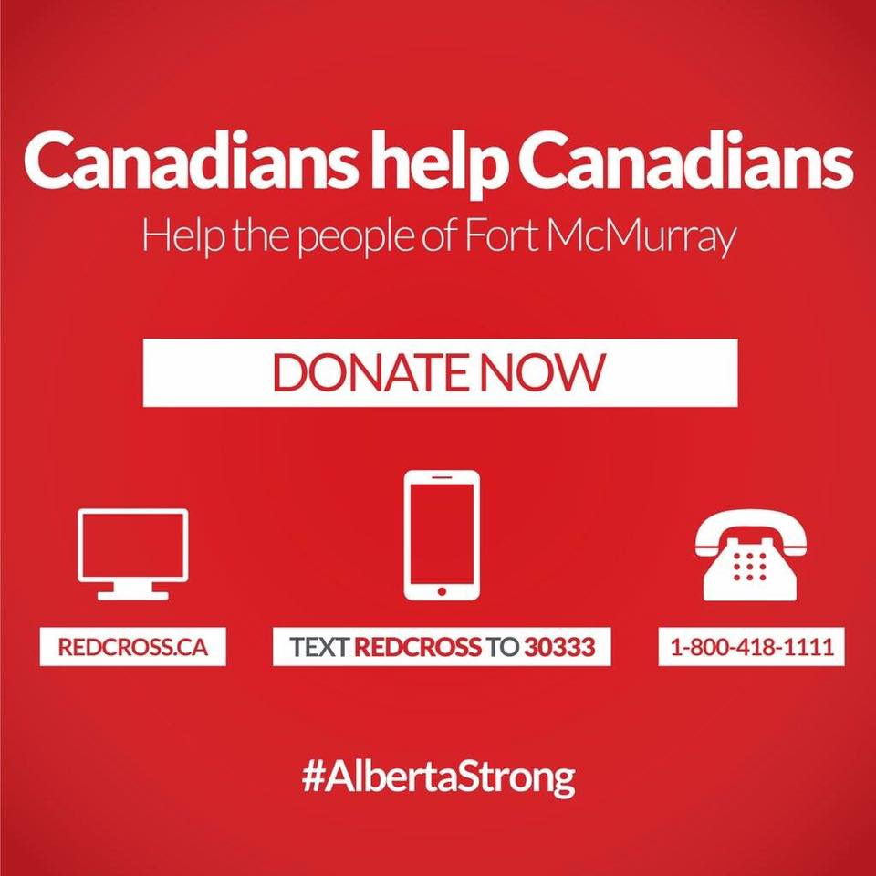Canadian Red Cross appeal for Fort McMurray wildfire relief (Red Cross)