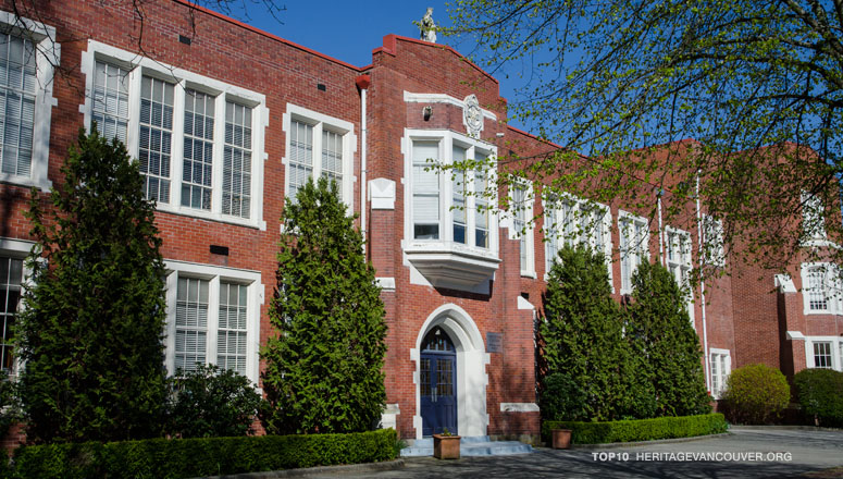 Current plans involve the demolition of three original Collegiate Gothic halls at Vancouver College. Heritage Vancouver)