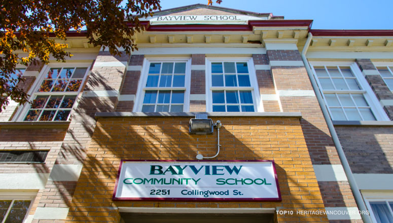 Bayview Community School in Kitsilano was built in 1913-14 in the Classical Revival style but there are concerns it could be demolished. (Heritage Vancouver)