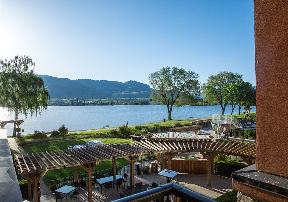 View of Lake Okanagan from the Watermark Resort in Osoyoos (Adrian Brijbassi)